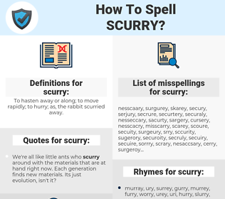 scurry, spellcheck scurry, how to spell scurry, how do you spell scurry, correct spelling for scurry
