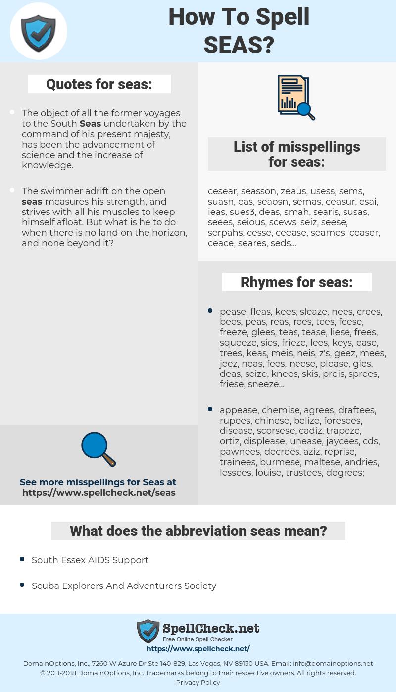 seas, spellcheck seas, how to spell seas, how do you spell seas, correct spelling for seas