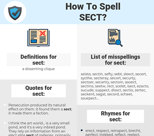 sect, spellcheck sect, how to spell sect, how do you spell sect, correct spelling for sect