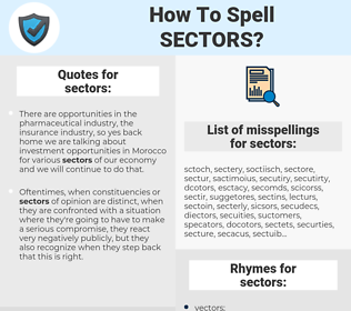 sectors, spellcheck sectors, how to spell sectors, how do you spell sectors, correct spelling for sectors