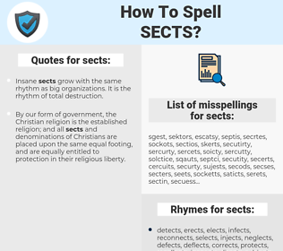 sects, spellcheck sects, how to spell sects, how do you spell sects, correct spelling for sects