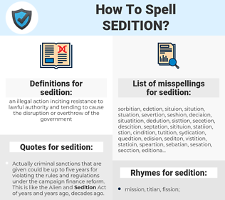 sedition, spellcheck sedition, how to spell sedition, how do you spell sedition, correct spelling for sedition