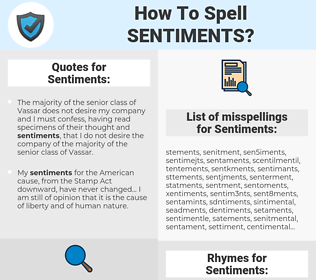 Sentiments, spellcheck Sentiments, how to spell Sentiments, how do you spell Sentiments, correct spelling for Sentiments