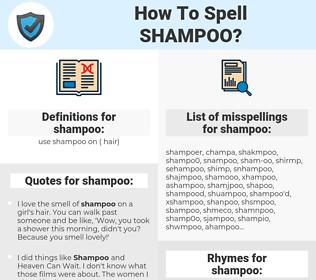shampoo, spellcheck shampoo, how to spell shampoo, how do you spell shampoo, correct spelling for shampoo