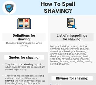 shaving, spellcheck shaving, how to spell shaving, how do you spell shaving, correct spelling for shaving