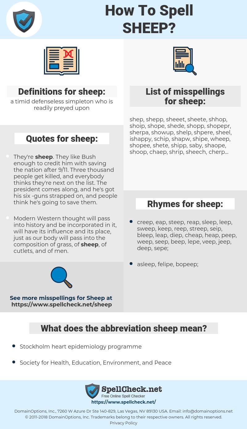 sheep, spellcheck sheep, how to spell sheep, how do you spell sheep, correct spelling for sheep