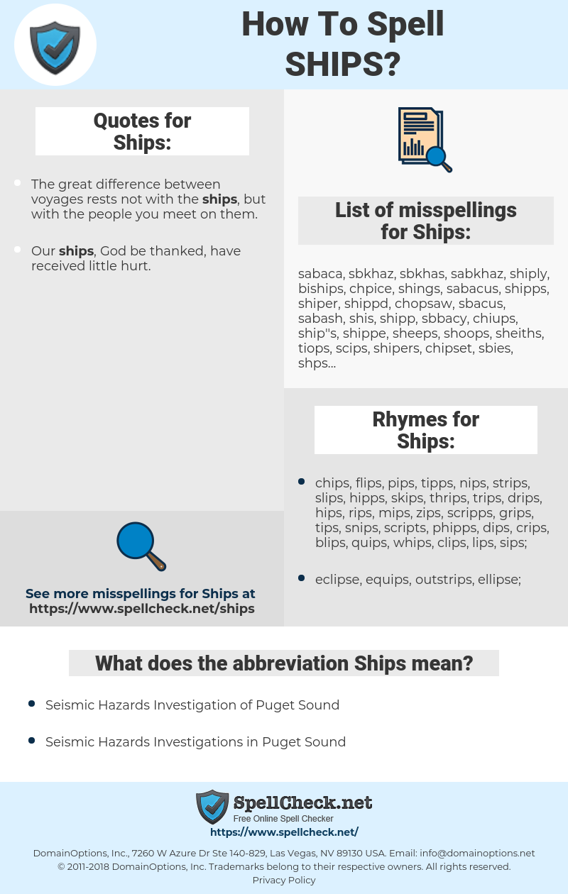 Ships, spellcheck Ships, how to spell Ships, how do you spell Ships, correct spelling for Ships