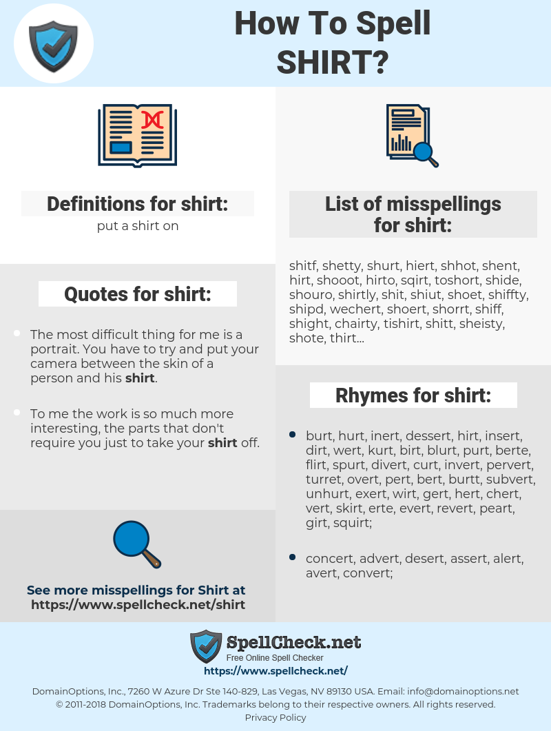 shirt, spellcheck shirt, how to spell shirt, how do you spell shirt, correct spelling for shirt