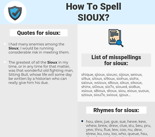 sioux, spellcheck sioux, how to spell sioux, how do you spell sioux, correct spelling for sioux