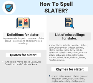 slater, spellcheck slater, how to spell slater, how do you spell slater, correct spelling for slater