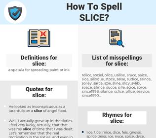 slice, spellcheck slice, how to spell slice, how do you spell slice, correct spelling for slice