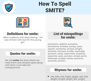 smite, spellcheck smite, how to spell smite, how do you spell smite, correct spelling for smite