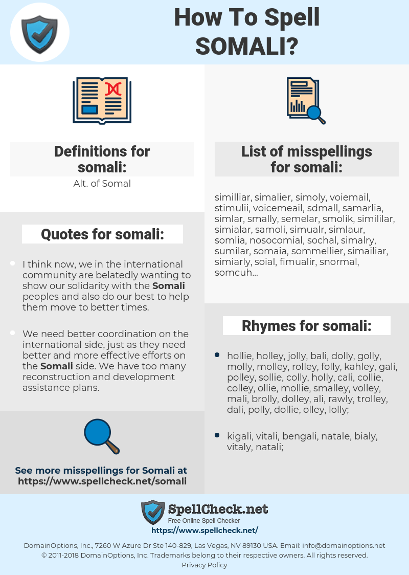 somali, spellcheck somali, how to spell somali, how do you spell somali, correct spelling for somali