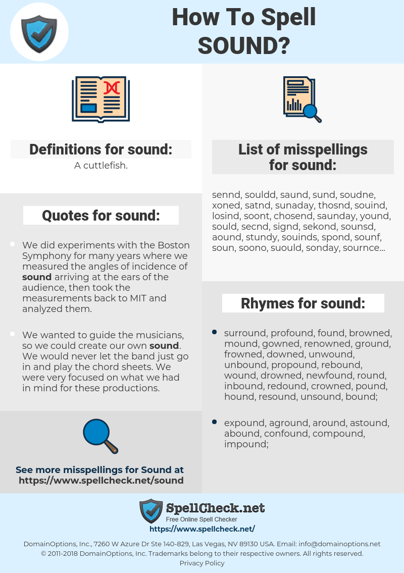 sound, spellcheck sound, how to spell sound, how do you spell sound, correct spelling for sound