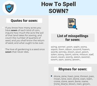 sown, spellcheck sown, how to spell sown, how do you spell sown, correct spelling for sown