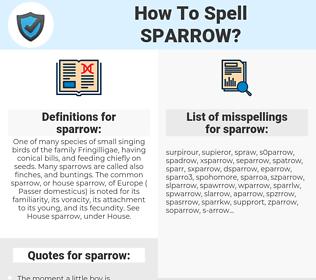 sparrow, spellcheck sparrow, how to spell sparrow, how do you spell sparrow, correct spelling for sparrow