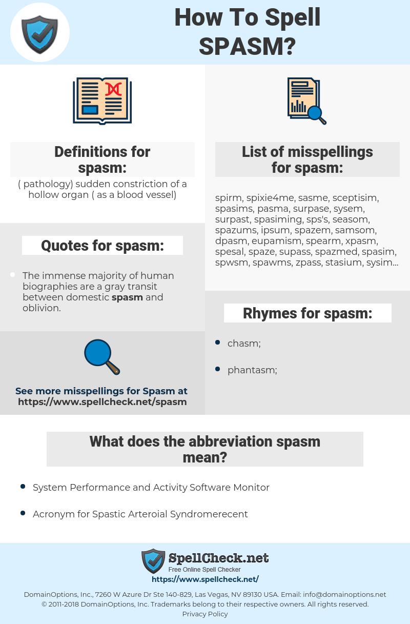 spasm, spellcheck spasm, how to spell spasm, how do you spell spasm, correct spelling for spasm