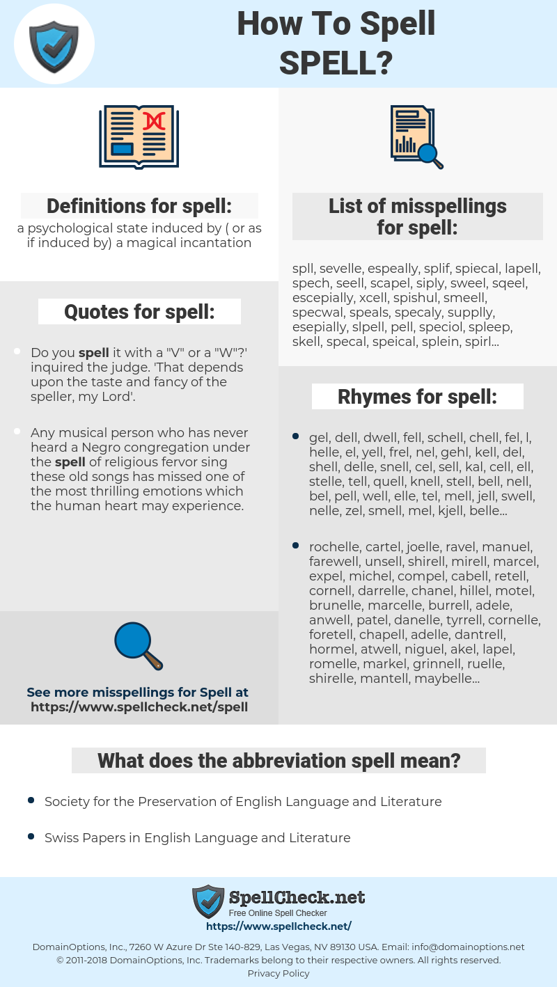 spell, spellcheck spell, how to spell spell, how do you spell spell, correct spelling for spell