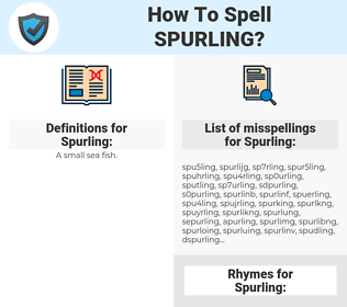 Spurling, spellcheck Spurling, how to spell Spurling, how do you spell Spurling, correct spelling for Spurling