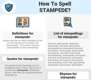 stampede, spellcheck stampede, how to spell stampede, how do you spell stampede, correct spelling for stampede