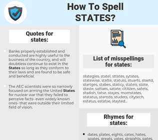 states, spellcheck states, how to spell states, how do you spell states, correct spelling for states