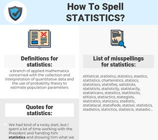 statistics, spellcheck statistics, how to spell statistics, how do you spell statistics, correct spelling for statistics