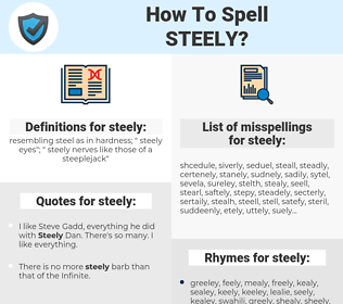 steely, spellcheck steely, how to spell steely, how do you spell steely, correct spelling for steely