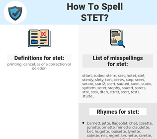 stet, spellcheck stet, how to spell stet, how do you spell stet, correct spelling for stet