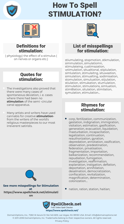stimulation, spellcheck stimulation, how to spell stimulation, how do you spell stimulation, correct spelling for stimulation