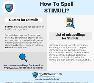 Stimuli, spellcheck Stimuli, how to spell Stimuli, how do you spell Stimuli, correct spelling for Stimuli