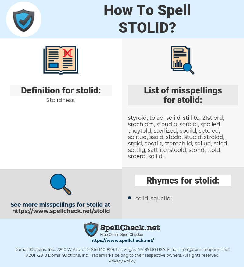stolid, spellcheck stolid, how to spell stolid, how do you spell stolid, correct spelling for stolid