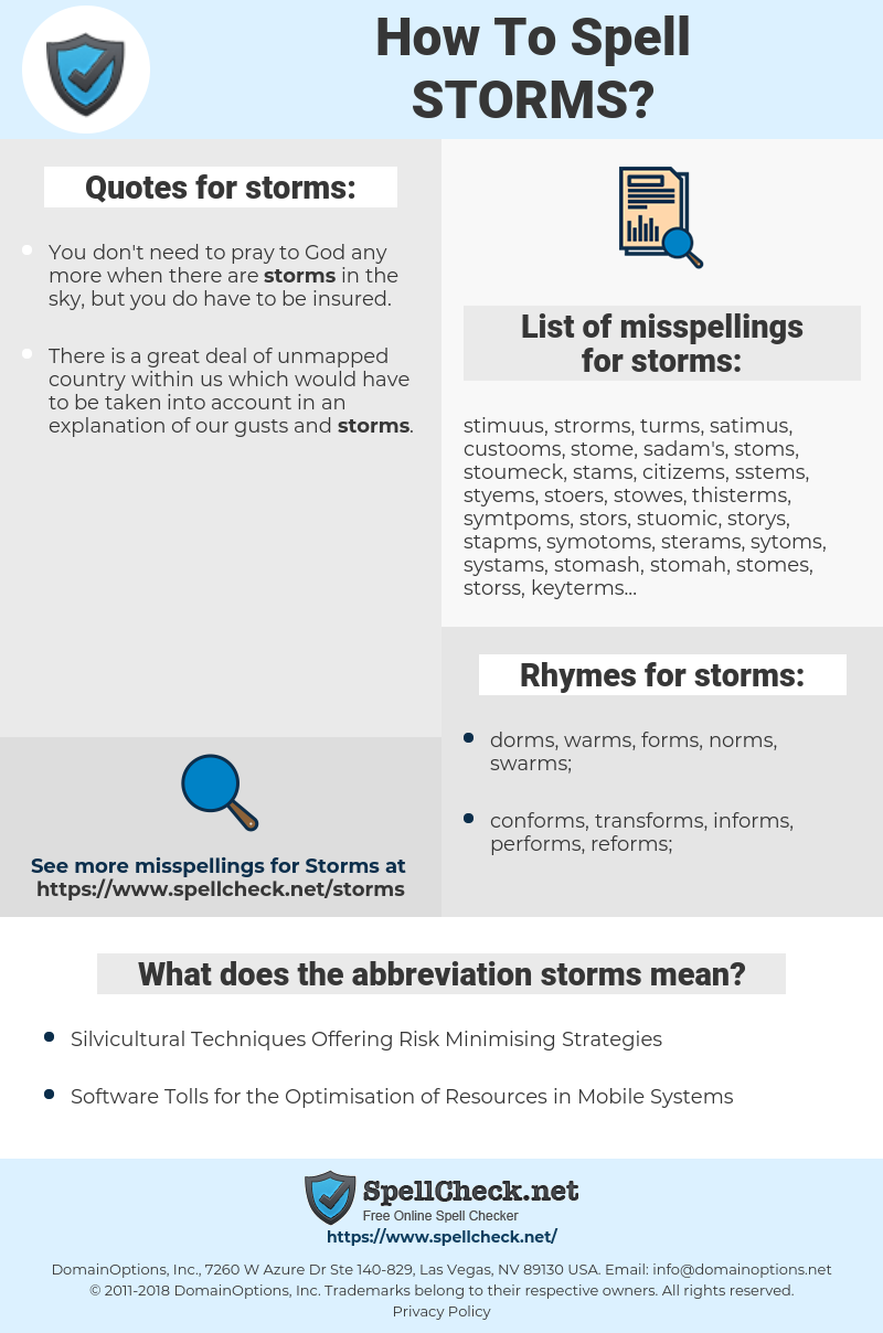storms, spellcheck storms, how to spell storms, how do you spell storms, correct spelling for storms