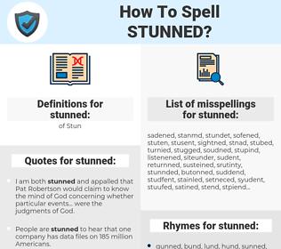 stunned, spellcheck stunned, how to spell stunned, how do you spell stunned, correct spelling for stunned