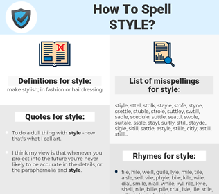 style, spellcheck style, how to spell style, how do you spell style, correct spelling for style