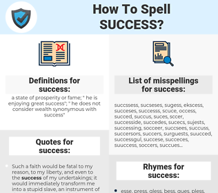 success, spellcheck success, how to spell success, how do you spell success, correct spelling for success