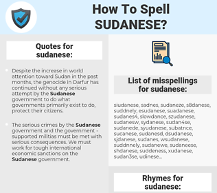 sudanese, spellcheck sudanese, how to spell sudanese, how do you spell sudanese, correct spelling for sudanese