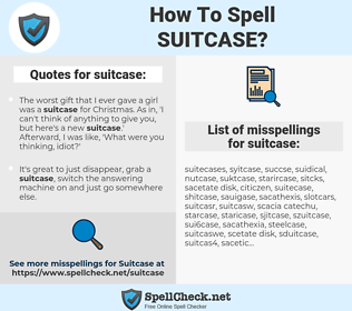 suitcase, spellcheck suitcase, how to spell suitcase, how do you spell suitcase, correct spelling for suitcase