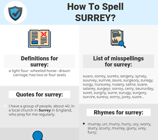 surrey, spellcheck surrey, how to spell surrey, how do you spell surrey, correct spelling for surrey