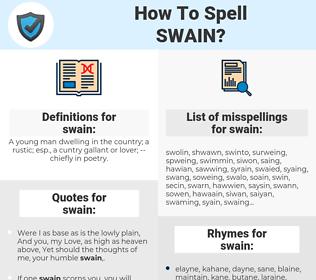 swain, spellcheck swain, how to spell swain, how do you spell swain, correct spelling for swain