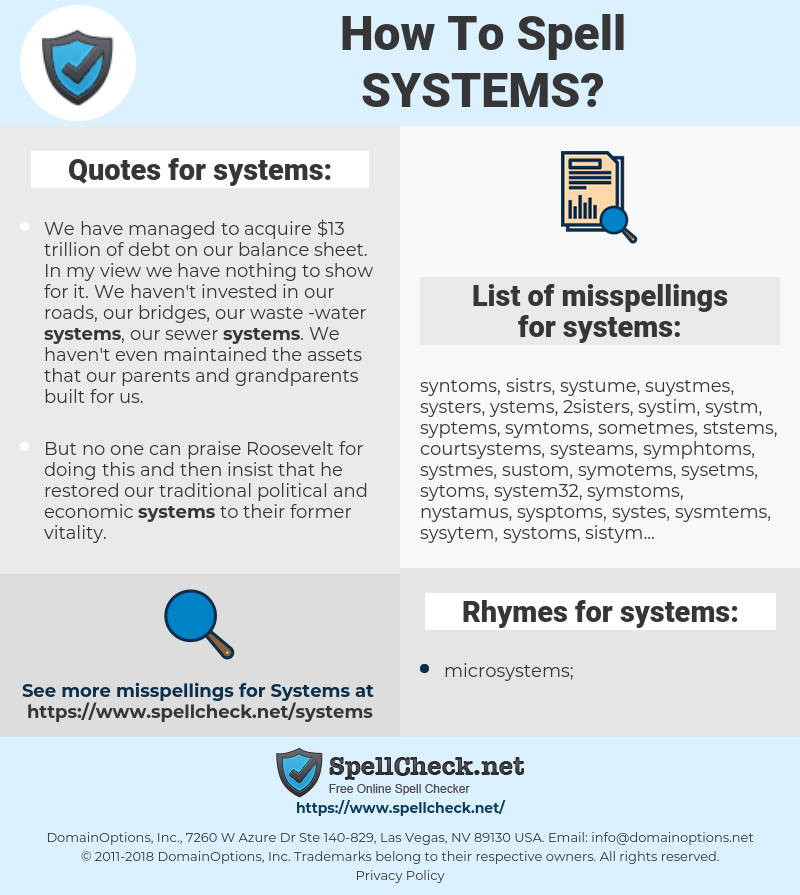 systems, spellcheck systems, how to spell systems, how do you spell systems, correct spelling for systems