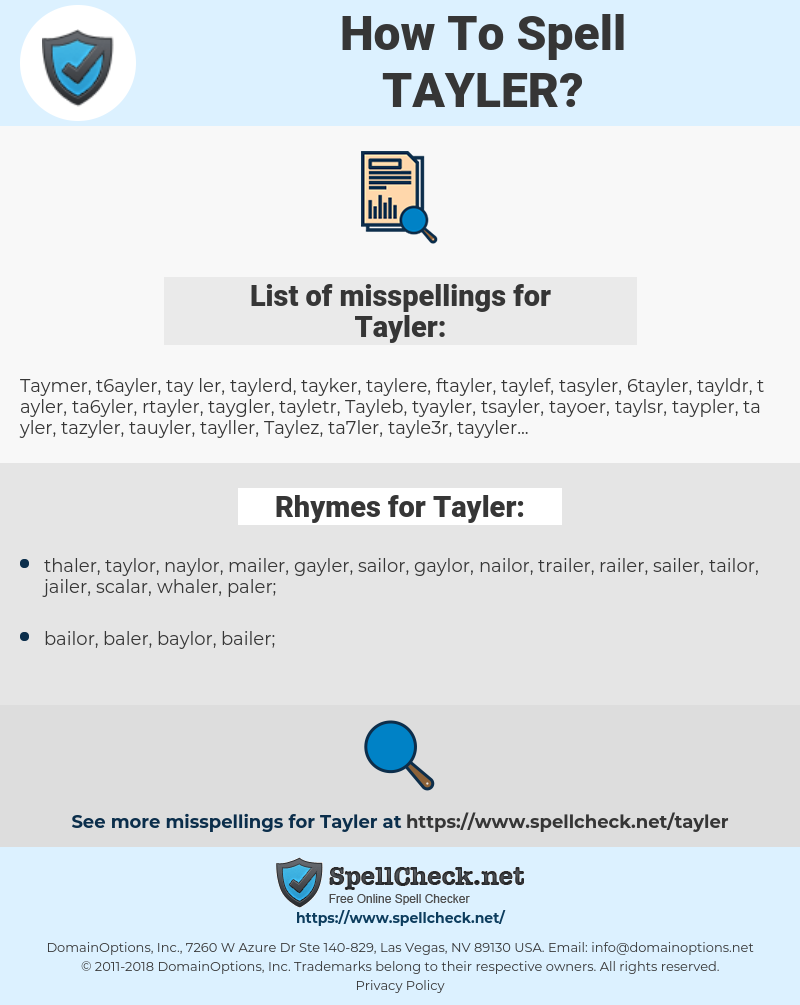 Tayler, spellcheck Tayler, how to spell Tayler, how do you spell Tayler, correct spelling for Tayler