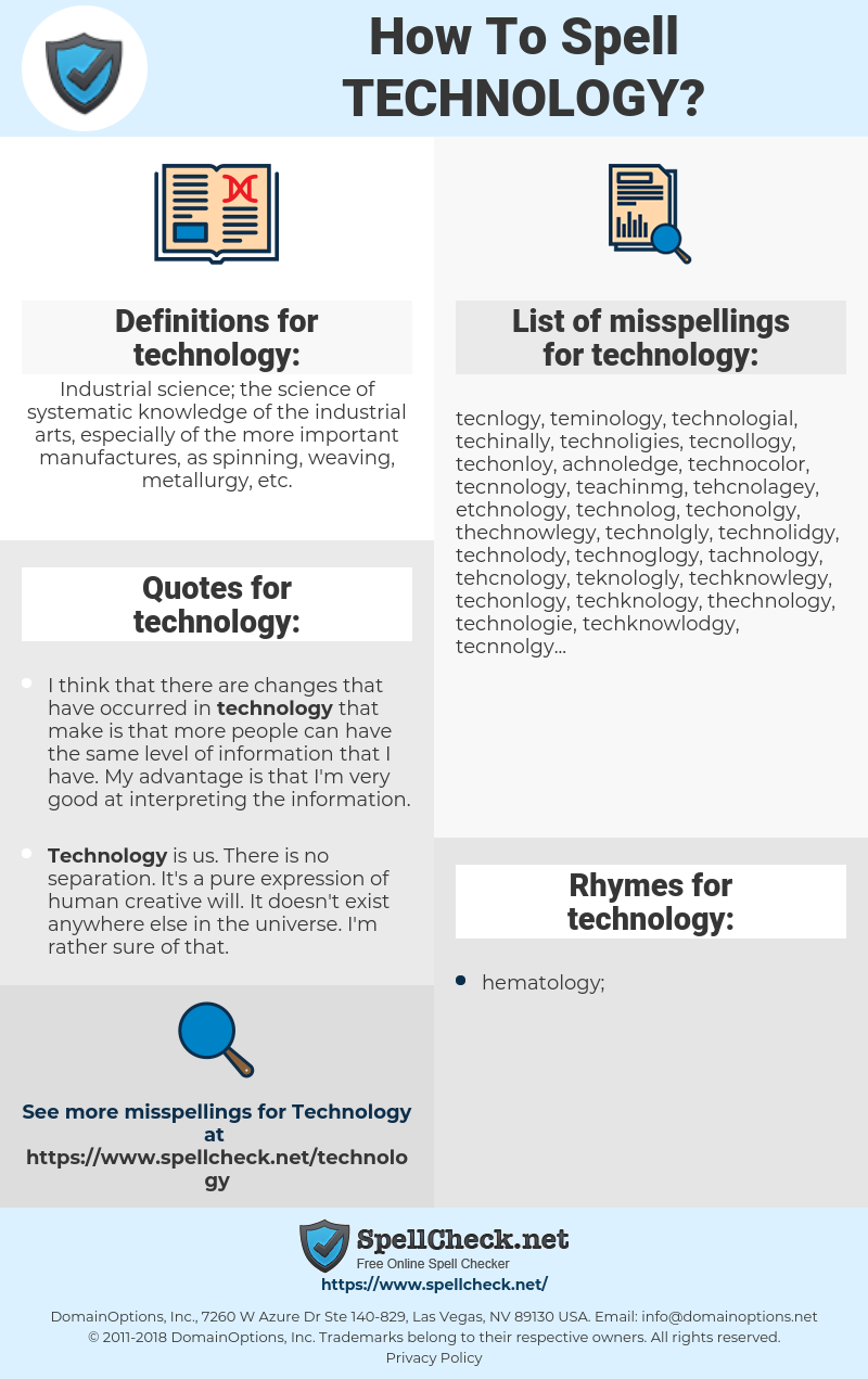 technology, spellcheck technology, how to spell technology, how do you spell technology, correct spelling for technology