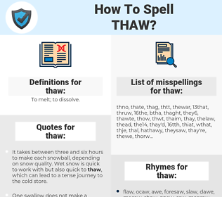 thaw, spellcheck thaw, how to spell thaw, how do you spell thaw, correct spelling for thaw