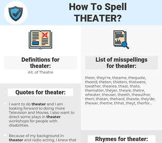 theater, spellcheck theater, how to spell theater, how do you spell theater, correct spelling for theater