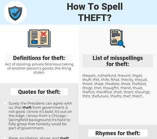 theft, spellcheck theft, how to spell theft, how do you spell theft, correct spelling for theft
