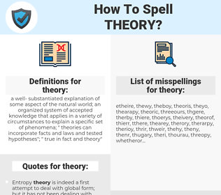 theory, spellcheck theory, how to spell theory, how do you spell theory, correct spelling for theory