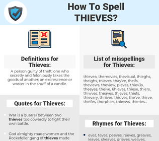 Thieves, spellcheck Thieves, how to spell Thieves, how do you spell Thieves, correct spelling for Thieves