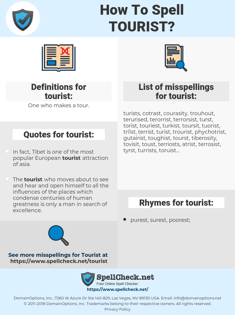 tourist, spellcheck tourist, how to spell tourist, how do you spell tourist, correct spelling for tourist