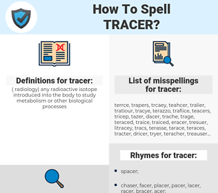 tracer, spellcheck tracer, how to spell tracer, how do you spell tracer, correct spelling for tracer