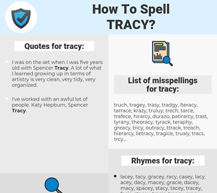 tracy, spellcheck tracy, how to spell tracy, how do you spell tracy, correct spelling for tracy